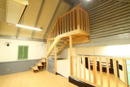 最短距離で移動できるように設置した新たな階段