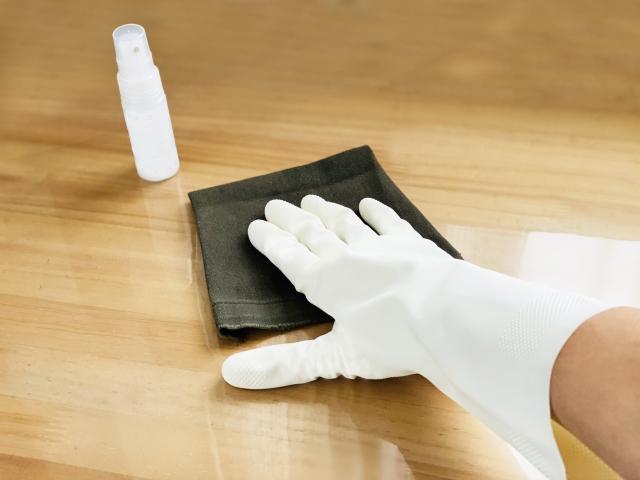 取っ手や机などの除菌
